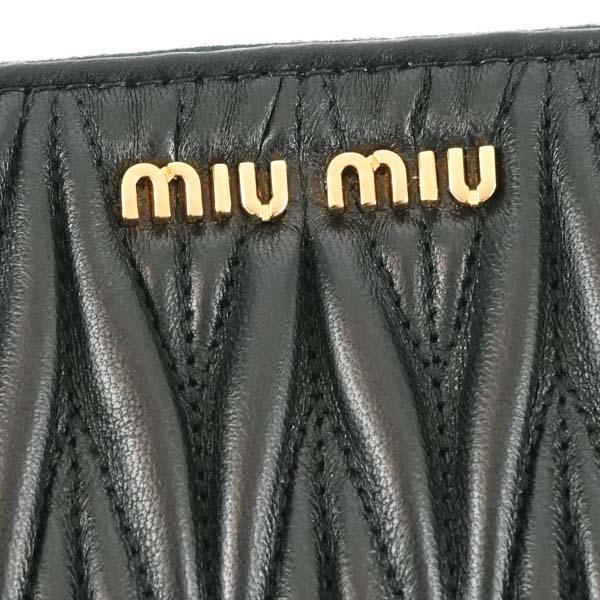 ミュウミュウ MIUMIU 長財布 長札 5MH506 MINUTERIA NERO BK 送料無料OP0kwX8n