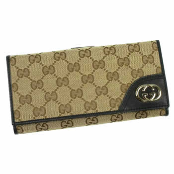 グッチ GUCCI 長財布 長札 181593 9769 NEW BRITT BEIGE EBONY/NERO