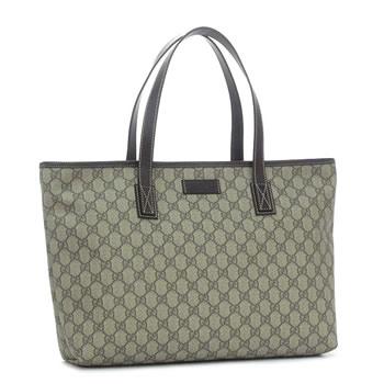 19d1031cd54 Gucci by GUCCI tote bag TOTE 211137 TOTE MD ZIP CLOSURE BEIGE EBONY COCOA  BE DB