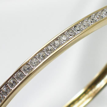 ff9f61cbe053f Swarovski SWAROVSKI bracelet breath 956714 CHANNEL-SET BANGLE GOLD-PLATED
