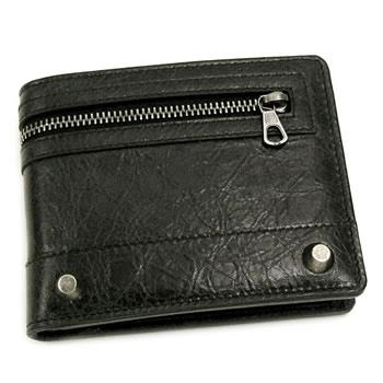 バレンシアガ BALENCIAGA 二つ折り財布 小銭入 223560 WALLET 7 BLACK:リコメン堂ファッション館