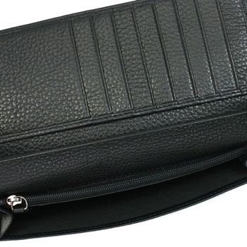 Giorgio Armani GIORGIO ARMANI long wallets tag YAM006 PORTA DOCUMENTI BK