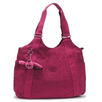 キプリング kipling ハンドバッグ BASIC K13338 CICELY ANTIQUE FUSHIA RED/PK:リコメン堂ファッション館