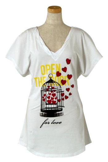 ラブモスキーノ LOVE MOSCHINO レディース Tシャツ 4G0205 WHITE WTb7vYyfgI6m