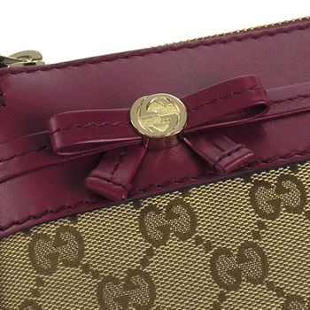 Gucci by GUCCI shoulder bag MAYFAIR 257065 MESSENGER/SMALL BEIGE  EBONY/CHERRY GLOS BE/RD