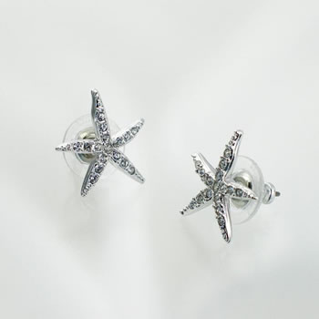 Swarovski SWAROVSKI earrings and pierced earrings / 695182 holly starfish  pierced earrings