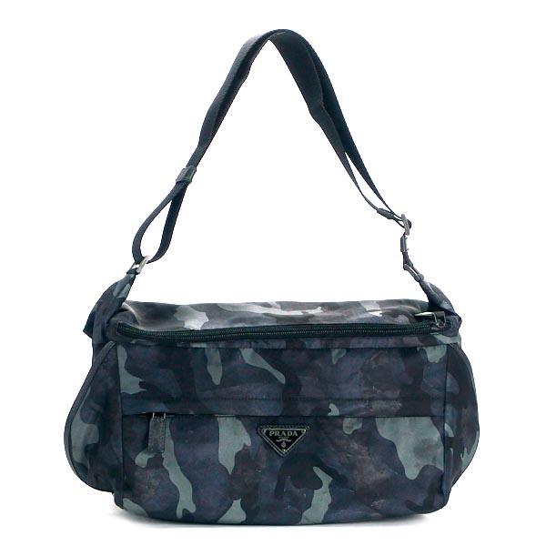 Prada Belt Bag Tessuto Camouflage Va0991 Bleu Kh Br