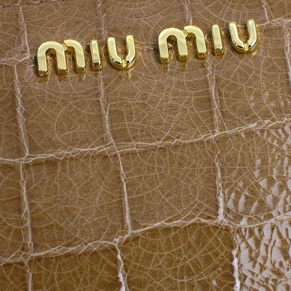 myumyu MIUMIU长钱包长牌STAMPA COCCO LUX 5M0506 CAMMELLO CAMEL