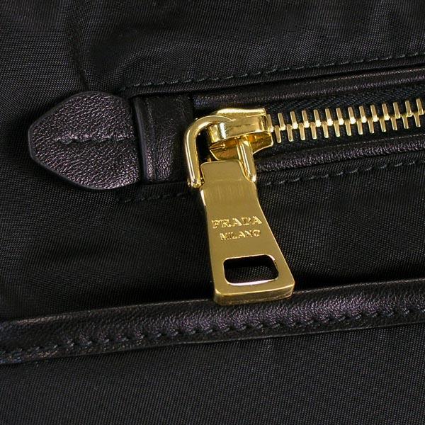 普拉達PRADA大手提包TESSUTO+SAFFIANO BN2280 OUTLET NERO BK
