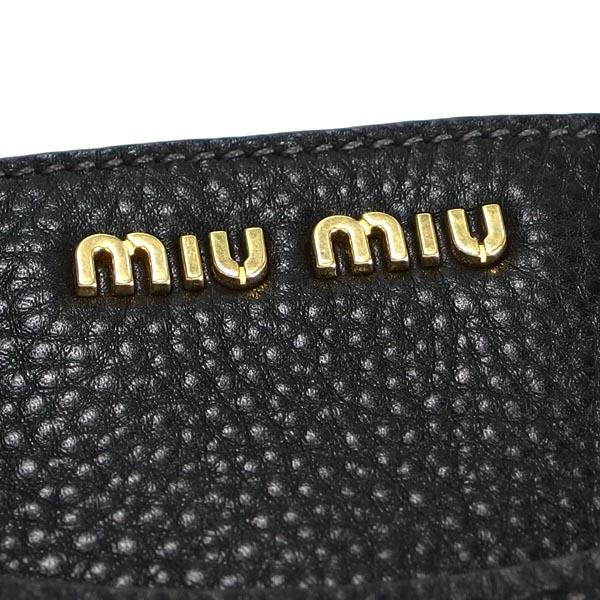 myumyu MIUMIU手提包VITELLO CARIBU RN0903 NERO BK