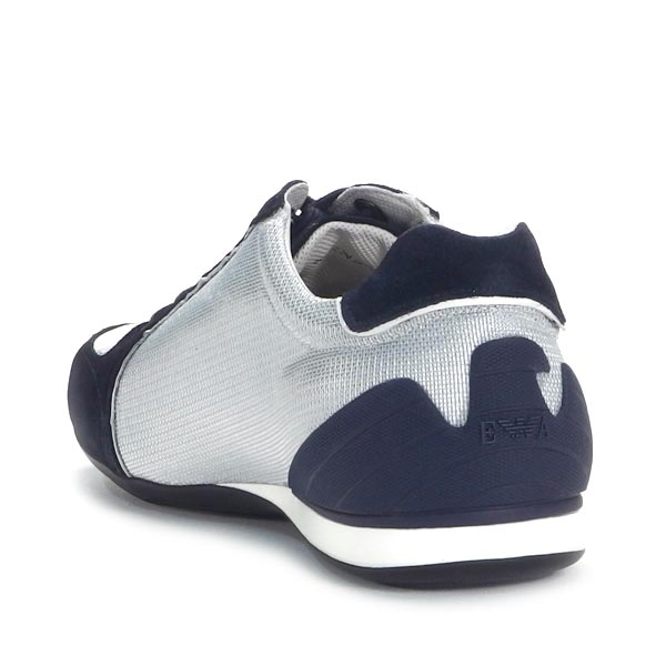 emporio·阿玛尼EMPORIO ARMANI人鞋X4X049 SNEAKERS BLU/SILVER BL