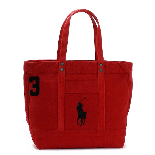 4051582 Ralph Lauren Tote Bag Pp Park Ave Red Polo Black Trim