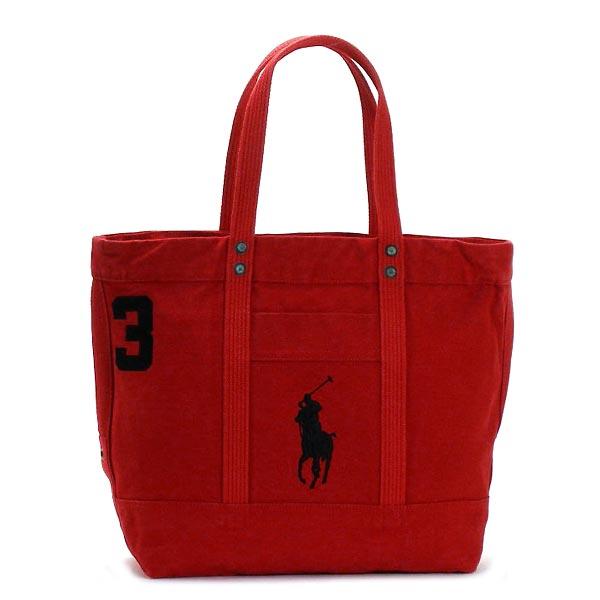 fb74726c62 rikomendofuasshonkan  4051582 Ralph Lauren RALPH LAUREN tote bag PP TOTE  PARK AVE RED POLO BLACK TRIM RED