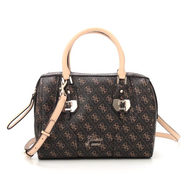 Rikomendofuasshonkan Guess Shoulder Bag Sg466407 Confidential Logo Box Satchel Brown Br Rakuten Global Market