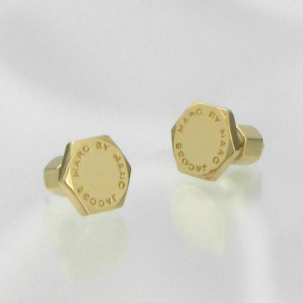 Mark By Marc Jacobs Earrings Pierced M3pe565 Bolt Studs Oro Go