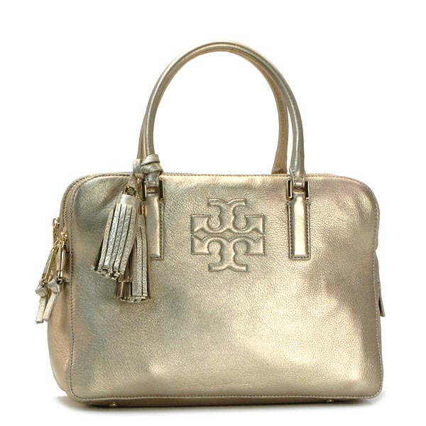 1ed07bdc70 Tory Burch TORY BURCH handbags 22149865 THEA METALLIC TRIPLE ZIP  COMPARTMENT SACHEL LIGHT GOLD GO ...