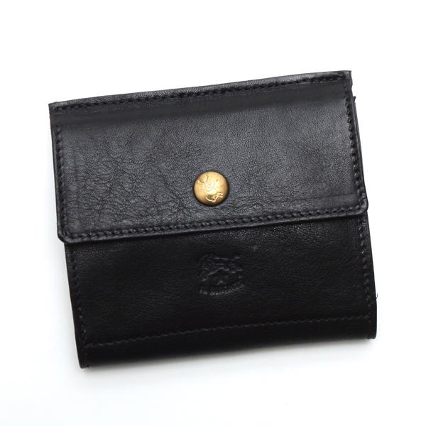 イルビゾンテ IL BISONTE 財布 Wホック C0910 NERO BK【送料無料】