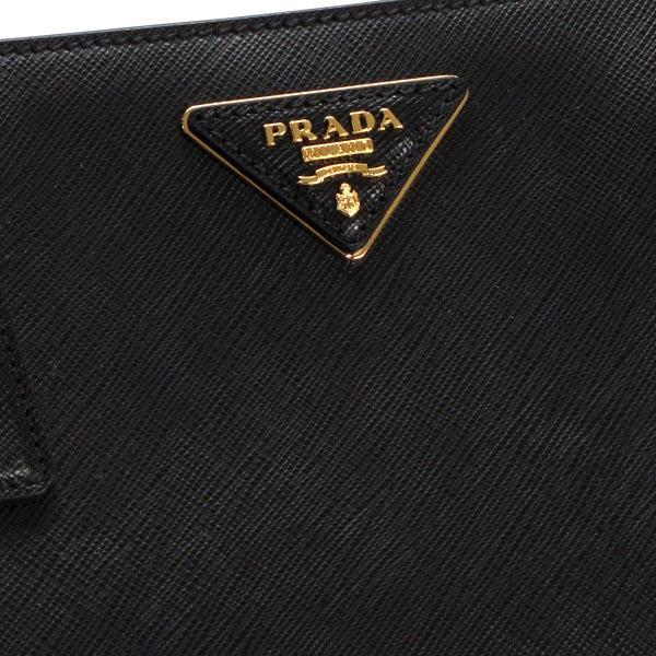 普拉達PRADA挎包1BA874 TRAMEZZA CON ZIP+TRACOLLA NERO BK