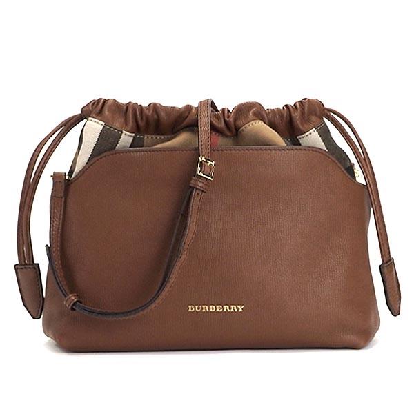 a1070693b005 rikomendofuasshonkan  Burberry BURBERRY shoulder bag LITTLE CRUSH HOUSE  CHECK DERBY LEATHER TAN BR