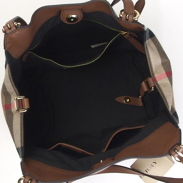 Burberry BURBERRY shoulder bag SMCANTERBY L HOUSE CHECK DERBY LEATHER TAN BR 9e3b0276a5dc1