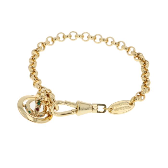 ヴィヴィアンウエストウッド Vivienne Westwood ブレスレット NEW PETITE ORB ゴールド 紙袋付き 専用BOX 61020057R レディース【送料無料】