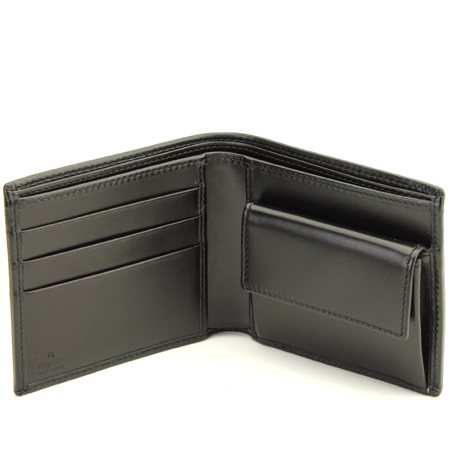 グッチ GUCCI 二つ折り財布 224122 FU49N 1000 ブラック 送料無料oWdexBrC