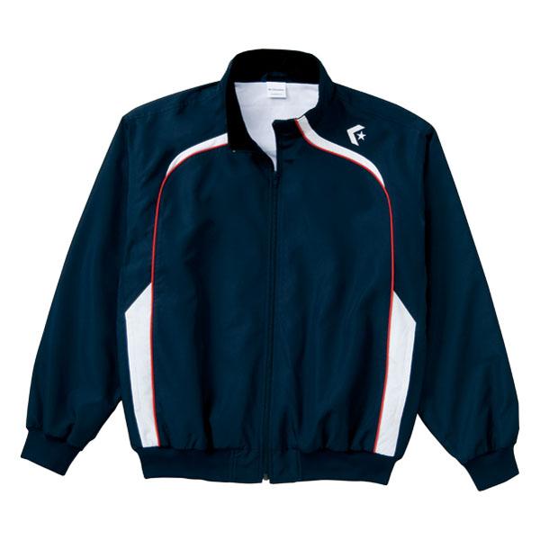 <title>送料無料 CONVERSE 海外限定 コンバース ウォームアップジャケット 裾フライス仕様 CB162502S カラー ネイビー×ホワイト サイズ S</title>