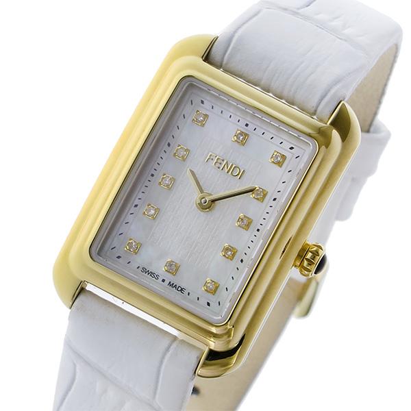 フェンディ FENDI クラシコ レクタンギュラー クオーツ レディース 腕時計 F702424541D1 ホワイトパール【送料無料】