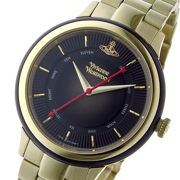ヴィヴィアン ウエストウッド ポルトベッロ レディース 腕時計 VV158BKGD ブラック【送料無料】