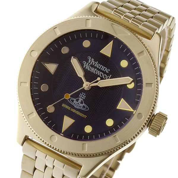 ヴィヴィアン ウエストウッド スミスフィールド ユニセックス 腕時計 VV160NVGD ダークネイビー【送料無料】