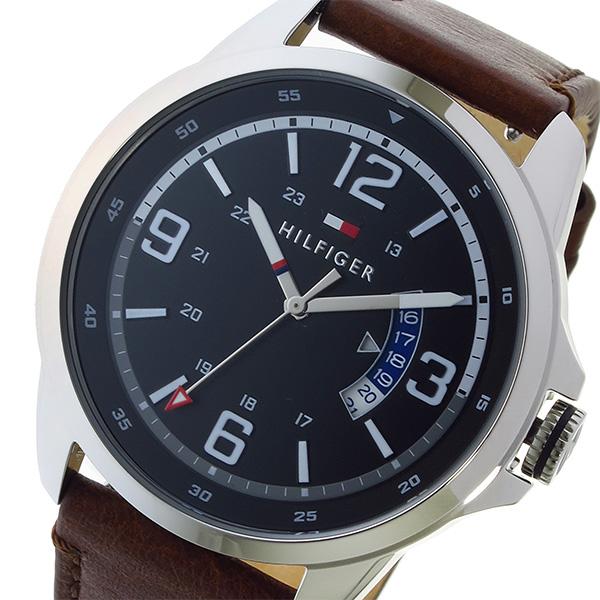 トミー ヒルフィガー TOMMY HILFIGER クオーツ 替えベルトつき メンズ 腕時計 1791321 ブラック【送料無料】