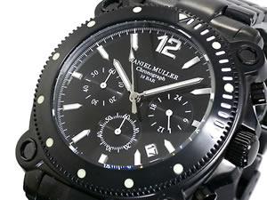 最前線の ダニエル DM-1006BKB【送料無料】 ミュラー ミュラー クロノグラフ 腕時計 クロノグラフ DM-1006BKB【送料無料】, セカンドスピリッツ:5f3f31c5 --- rishitms.com