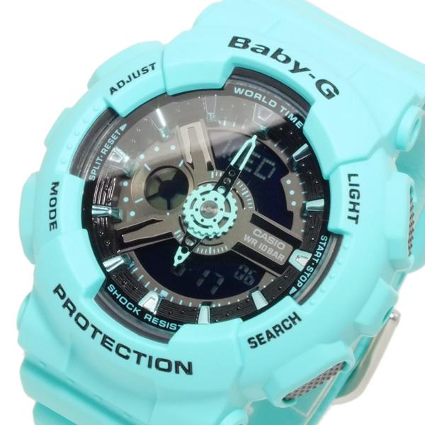 カシオ CASIO ベビーG BABY-G デジタル レディース 腕時計 BA-111-3AER グリーン【送料無料】