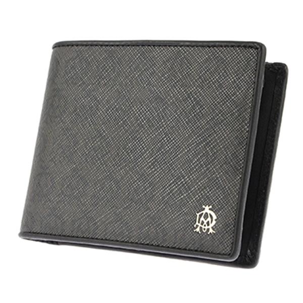 ダンヒル DUNHILL 二つ折り短財布 メンズ L2W732Z ブラック【送料無料】