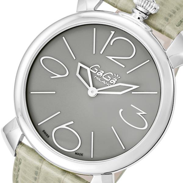 ガガ ミラノ マニュアーレ シン 46mm クオーツ レディース 腕時計 509007 グレー【送料無料】
