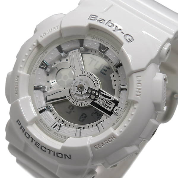 カシオ CASIO ベイビーG BABY-G レディース 腕時計 BA-110-7A3 ホワイト【送料無料】