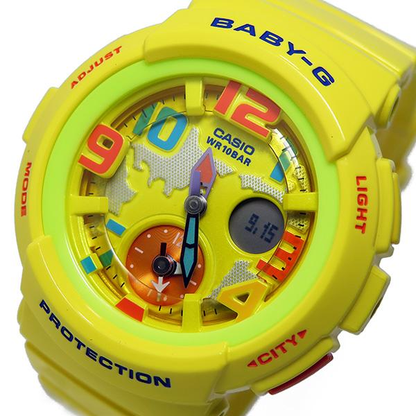 カシオ ベビージー Baby-G クオーツ レディース 腕時計 BGA-190-9B イエロー【送料無料】