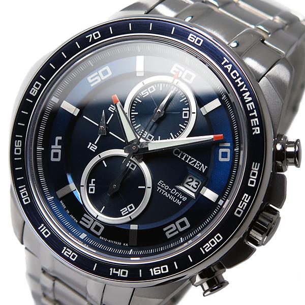シチズン CITIZEN クオーツ メンズ クロノ 腕時計 CA0346-59L ブルー【送料無料】