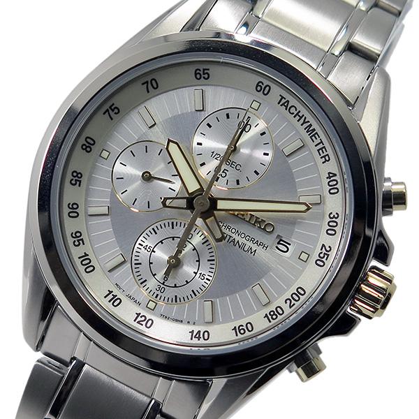 セイコー SEIKO クロノ クオーツ メンズ 腕時計 SNDC95P1 シルバー【送料無料】