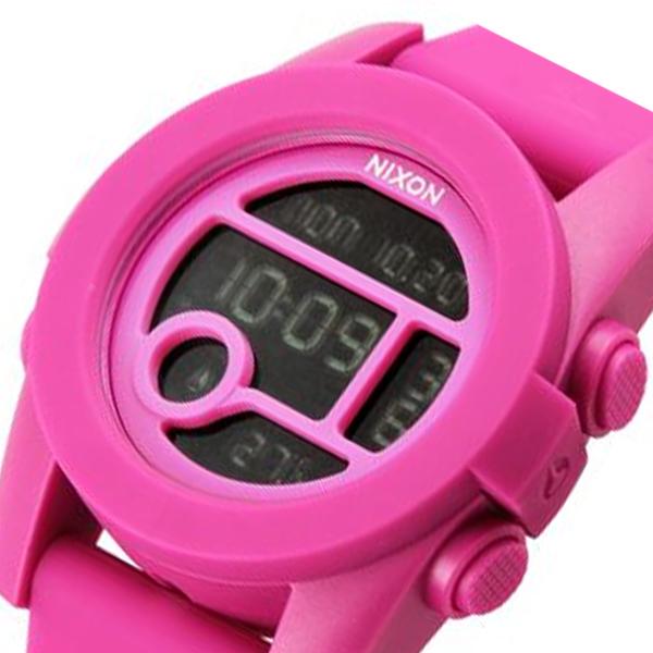 ニクソン NIXON ユニット40 デジタル ユニセックス 腕時計 時計 A490076 ピンク
