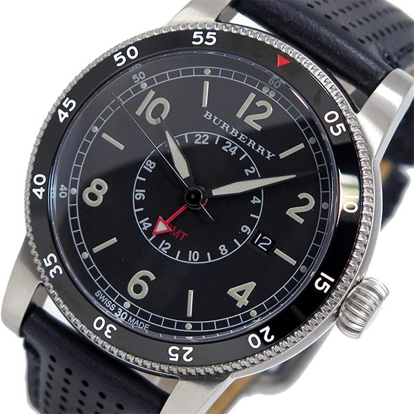 バーバリー BURBERRY ユティリタリアン クオーツ メンズ 腕時計 BU7854 ブラック【送料無料】