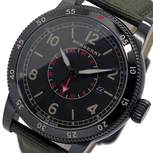 バーバリー BURBERRY ユティリタリアン クオーツ メンズ 腕時計 BU7855 ブラック【送料無料】