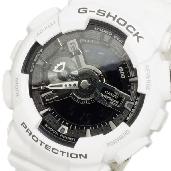 カシオ CASIO Gショック ホワイト&ブラック アナデジ メンズ 腕時計 GA-110GW-7【送料無料】