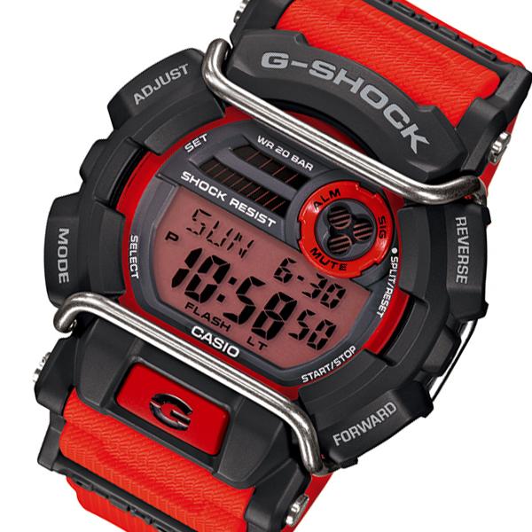 カシオ CASIO Gショック G-SHOCK デジタル メンズ 腕時計 GD-400-4 オレンジ