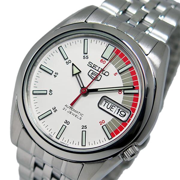 セイコー SEIKO セイコー 5 スポーツ 自動巻き メンズ 腕時計 時計 SNK369K ホワイト