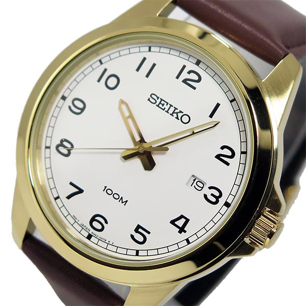 セイコー SEIKO クオーツ メンズ 腕時計 SUR160P1 ホワイト【送料無料】