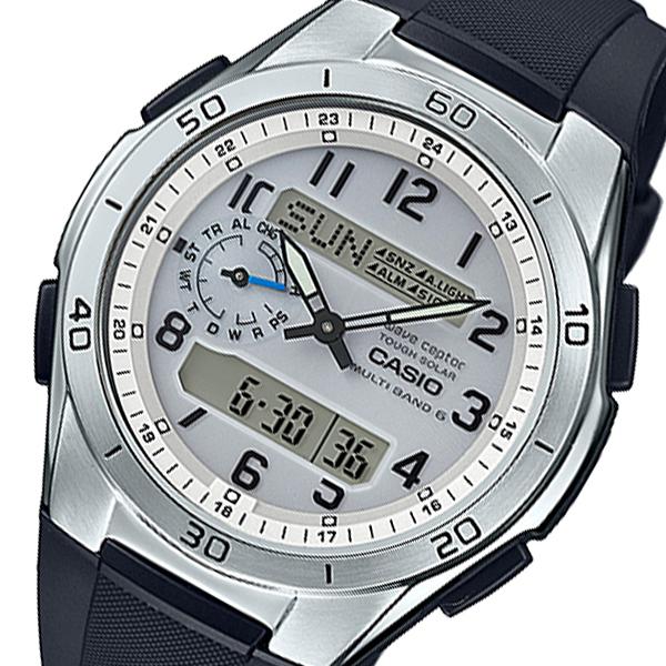 カシオ ウェーブセプター メンズ 電波 腕時計 WVA-M650-7AJF シルバー 国内正規【送料無料】
