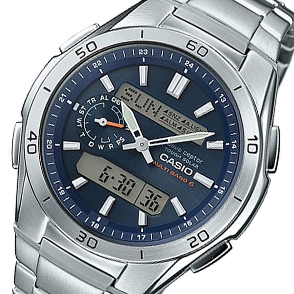 カシオ ウェーブセプター メンズ 電波 腕時計 WVA-M650D-2AJF ネイビー 国内正規【送料無料】