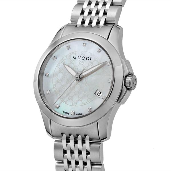 グッチ GUCCI Gタイムレス クオーツ レディース 腕時計 YA126535 ホワイトパール【送料無料】