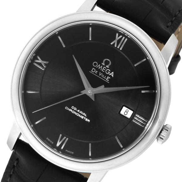 オメガ デ・ビル 自動巻き メンズ 腕時計 42413402001001 ブラック【送料無料】